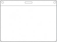Nimikorttitasku 94x58mm kirkas vaaka  käyntikorttikoko