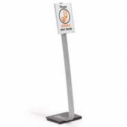 Esiteteline Durable Info Sign Stand A4  jalallinen hopea