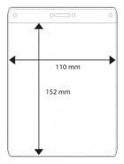 Nimikorttitasku A6 110x152mm kirkas  pystymalli