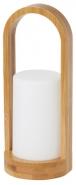 LED-lyhty Duni Easy 240x100mm bambua/muovia  natural/valkoinen