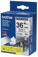 Brother P-touch-teippi TZe-S261 36mm x 8m  musta/valkoinen strong