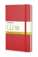 Moleskine Large Plain Notebook -muistikirja  punainen