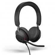 Jabra Evolve2 40 MS Stereo Headset  langallinen USB-A musta