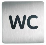 Ovikyltti WC Durable 4957 hopea