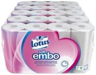 WC-paperi Lotus Soft Embo valkoinen  5x8rll/säkki