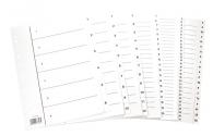 Hakemisto A4 1-10 kartonkia valkoinen