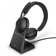 Jabra Evolve2 65 Link380C MS Stereo Headset  langaton musta + lataustelakka