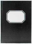Konttorikirja A5/192 ruudut 7x7mm musta