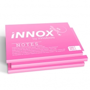 Staattinen viestilappu Innox Notes  70x100mm/100 pinkki