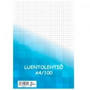Luentolehtiö A4/100 ruudut 7x7mm  8cm rei'itys