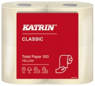 WC-paperi Katrin Classic Toilet 300 keltainen 10x4rll/säkki