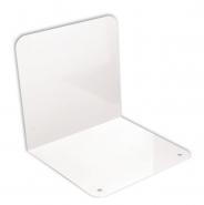 Kirjatuki valkoinen 12,5cm metallia