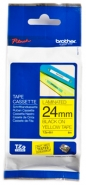Brother P-touch-teippi TZe-651 24mm x 8m  musta/keltainen