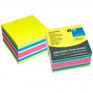 Viestilappukuutio Info Notes 75x75mm  Brilliant mix