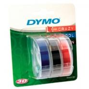 Dymo 3D -kohokirjoitinteippi 9mm x 3m  värilajitelma 3kpl/pkt