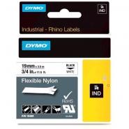 Dymo Rhino 18489 nylonteippi 19mm x 3,5m  musta/valkoinen