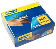 Nitomanasta Rapid Red-Stripe 24/6 kuparoitu  2000kpl/pkt