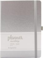 Ajasto Planner-muistikirja A5 hopea