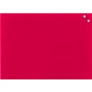 Lasikirjoitustaulu 80x60cm punainen