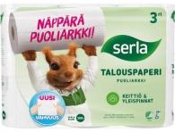 Talouspaperi Serla puoliarkki valkoinen  15rll/säkki