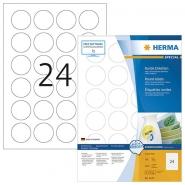 Tarra Herma 4476 irtoava pyöreä 40mm  valkoinen 2400kpl/pkt