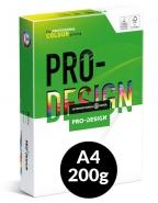 Värikopiopaperi PRO-DESIGN A4 200g 250ark/pkt