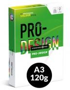 Värikopiopaperi PRO-DESIGN A3 120g 250ark/pkt