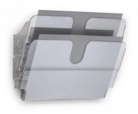 Seinäteline Durable FlexiPlus 2-osainen A4  vaaka kirkas