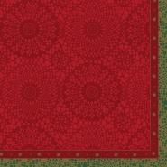 Lautasliina Duni 40x40cm punainen joulu  50kpl/pkt