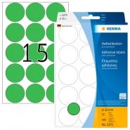 Merkintätarra pyöreä Herma 2275 32mm  vihreä 480kpl/pkt