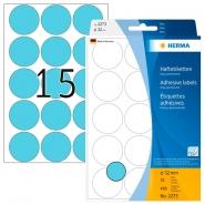 Merkintätarra pyöreä Herma 2273 32mm  sininen 480kpl/pkt