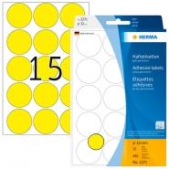 Merkintätarra pyöreä Herma 2271 32mm  keltainen 480kpl/pkt