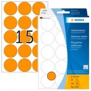 Merkintätarra pyöreä Herma 2274 32mm  oranssi 480kpl/pkt