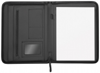 Asiakirjasalkku A4 vetoketjulla musta