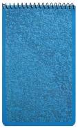 Taskulehtiö 90x148/50 sininen ruudut 7x7mm