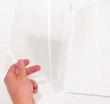 Liimasidontakansi A4 6mm valkoinen 100kpl/pkt