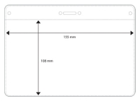 Nimikorttitasku A6 155x108mm kirkas  vaakamalli