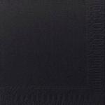 Lautasliina Duni 33x33cm 2-krs musta  125kpl/pkt