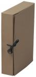 Arkistokotelo nappi/nauha A4 8cm ruskea