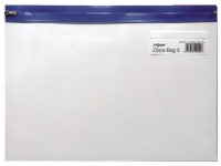 Vetoketjutasku Snopake Zippa-Bag S A4 Plus kirkas/sininen