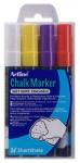 Lasi-/liitutaulukynä Artline Chalk Marker EPW/4W2 2mm värilajitelma 4kpl/pkt