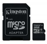microSDHC-muistikortti Kingston SDCS/32GB  UHS-I U1 / Class 10 adapterilla