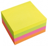 Viestilappukuutio Info Notes 75x75mm/320 neon
