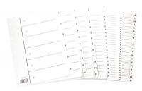Hakemisto A4 1-6 kartonkia valkoinen