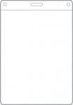 Nimikorttitasku 78x103mm kirkas pystymalli