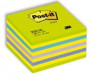 Viestilappukuutio Post-it 2028NB 76x76mm/450  vihreä/sininen neon