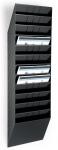 Seinäteline Durable FlexiBoxx 12-osainen A4 vaaka musta
