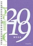 Pöytäkalenteri Wega Eko lila 2019