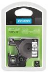 Dymo D1-nylonteippi 16957 12mm musta/valkoinen