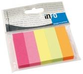 Merkkaaja Info Pagemarker 15x50mm  neonlajitelma 100kpl/pkt